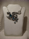 Alchemy  Gothic pendant necklace in pewter metal  Aqua Dragon